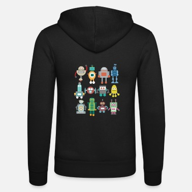 Sci-fi Robot retro funny gift technique playing - Unisex Zip Hoodie
