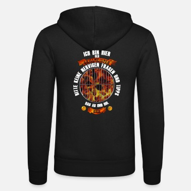 Shirt with a funny saying. Grill master get beer - Unisex Zip Hoodie