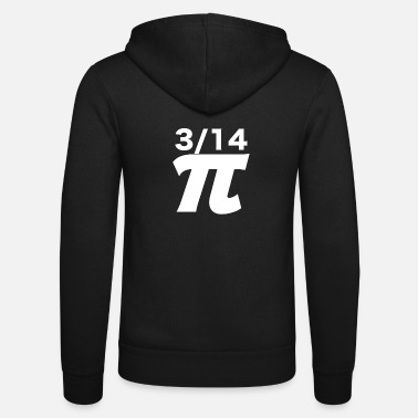 Pi Day Math Teacher Nerd Algebra Pi - Felpa con zip unisex