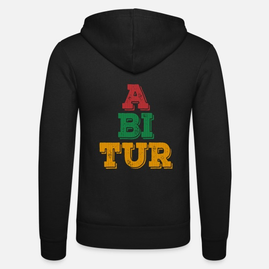High School Senior Hoodies & Sweatshirts - Funny High School Abi 2019 T-Shirt - Unisex Zip Hoodie black