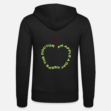 Slogan an apple a day keeps the doctor away - Unisex zip hoodie