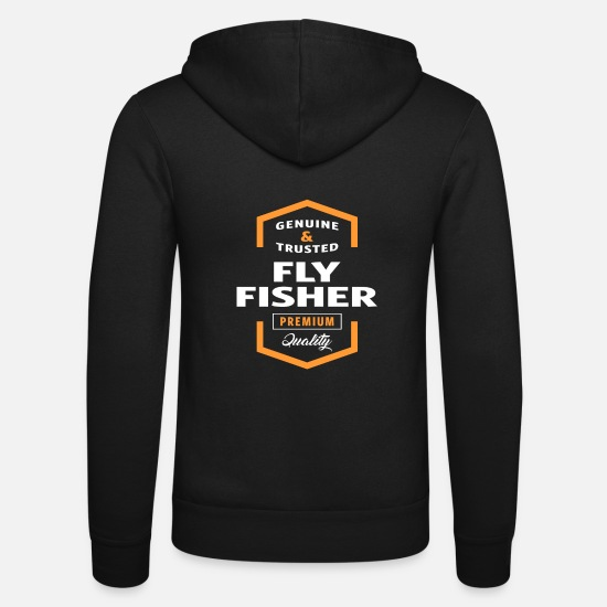 Logo Hoodies & Sweatshirts - Fly Fisher - Unisex Zip Hoodie black