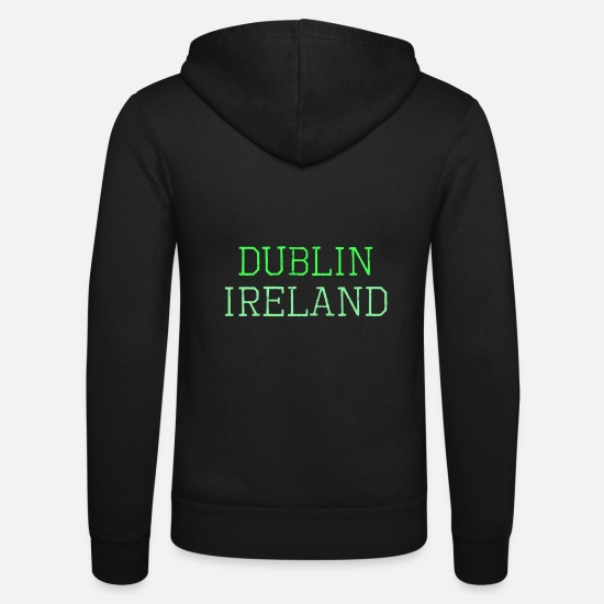 Ireland Hoodies & Sweatshirts - Dublin Ireland - Unisex Zip Hoodie black