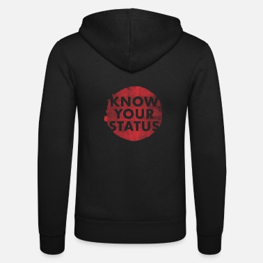Aids-awareness World AIDS Day HIV Aids Awareness Red Ribbon - Unisex Hooded Jacket by Bella + Canvas