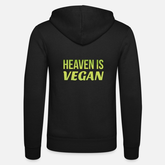 Veggie Hoodies & Sweatshirts - Heaven is vegan gift - Unisex Zip Hoodie black