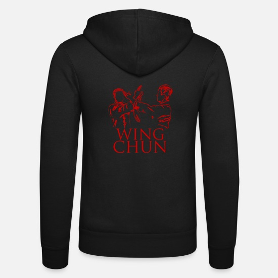Martial Arts Hoodies & Sweatshirts - Wing chun - Unisex Zip Hoodie black