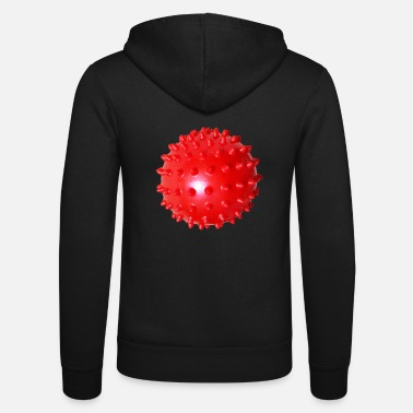 Facemask Red Ball Facemask - Red Ball Facemask - Unisex Zip Hoodie