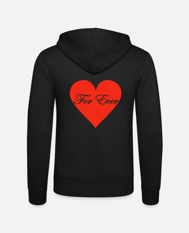 Heart Hoodies & Sweatshirts - for_ever - Unisex Zip Hoodie black