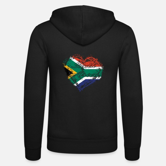 Africa Hoodies & Sweatshirts - HOME ROOTS COUNTRY POISON LOVE South africa - Unisex Zip Hoodie black