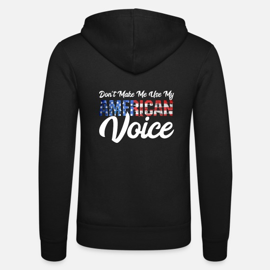 Usa Pullover & Hoodies - Dont make me use my america Voice Geschenk - Unisex Kapuzenjacke Schwarz