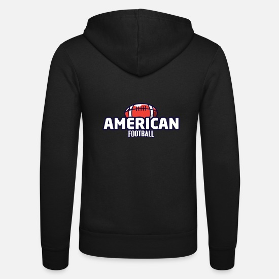 Football Hoodies & Sweatshirts - AMERICAN FOOTBALL - Unisex Zip Hoodie black