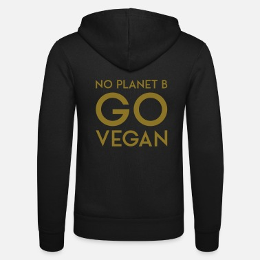 Planet NO PLANET B GO VEGAN - Unisex hættejakke fra Bella + Canvas