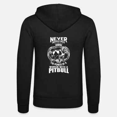Satyr The power of a woman with a pitbull dog cute - Unisex Zip Hoodie