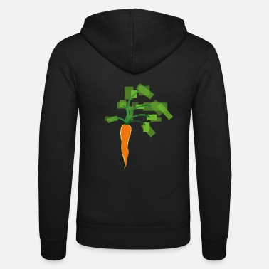 Mad Gulerod Gulerod Vegan Vegetable gaveidé - Unisex hættejakke fra Bella + Canvas