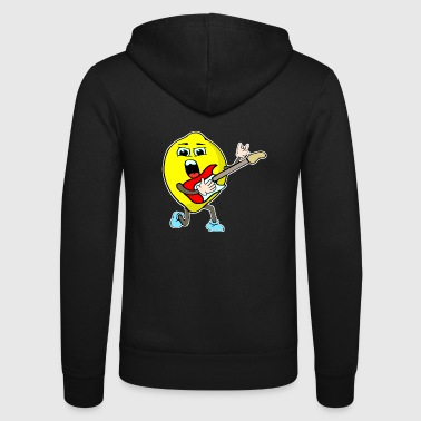 Rock lemon with guitar - Unisex Hooded Jacket by Bella + Canvas