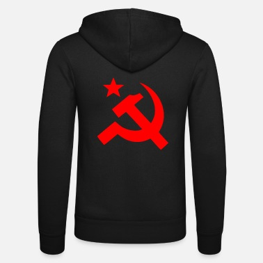 Sickle hammer and sickle - Unisex Hooded Jacket by Bella + Canvas