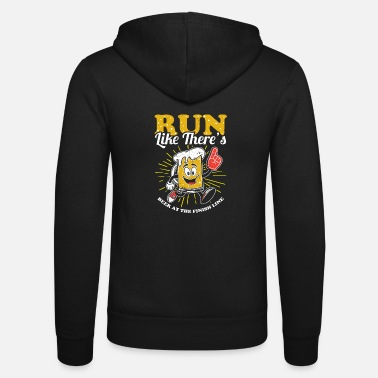 Öl Funny Run Like Det finns öl på Finish Line T-shirt - Zip hoodie unisex
