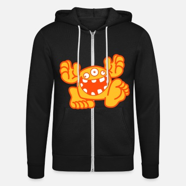 Proud To Be A Monster Cartoon by Cheerful Madness! - Unisex Zip Hoodie