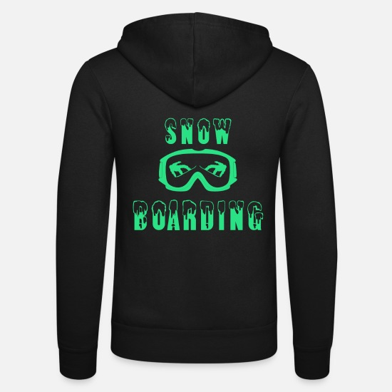 Gift Idea Hoodies & Sweatshirts - Snowboarding glasses boarder snow sport - Unisex Zip Hoodie black