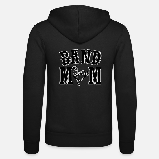 Music Hoodies & Sweatshirts - Band Mom - Unisex Zip Hoodie black