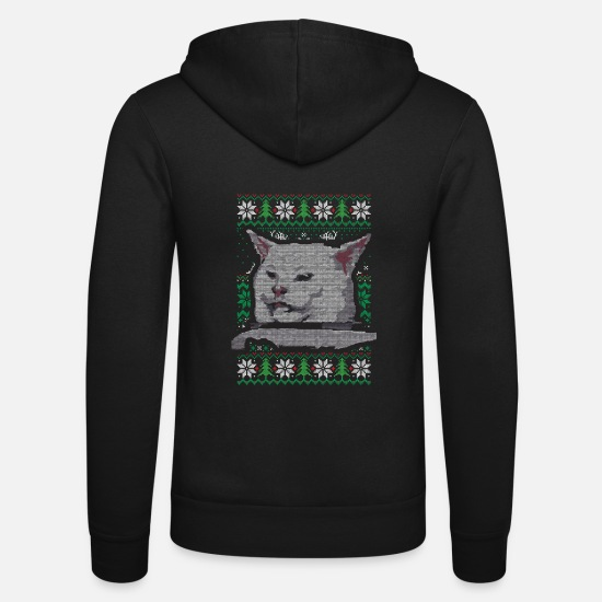 Meme Pullover & Hoodies - Woman Yelling at a Cat Partner Ugly Christmas Swea - Unisex Kapuzenjacke Schwarz