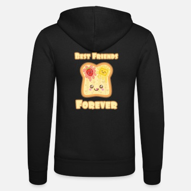 Kawaii Toast mit Spruch: Best Friends Forever - Unisex Kapuzenjacke von Bella + Canvas