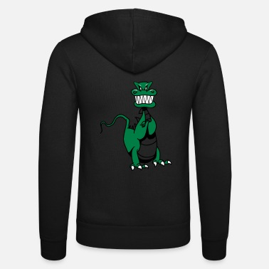 Mythical Beast Dragon evil mythical beast funny cool comic - Unisex Zip Hoodie