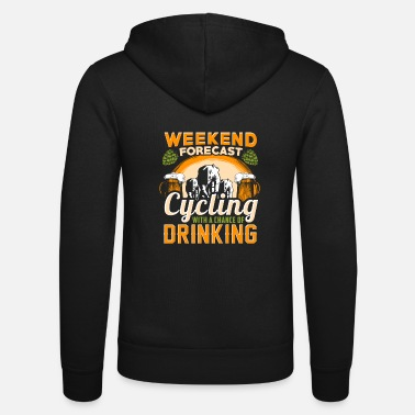 Weekend Forecast Cycling Fahrrad - Weekend Forecast - EN - Unisex Zip Hoodie