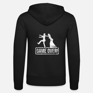 Game Over Game Over Wedding Bride Groom Married Couple - Felpa con zip unisex
