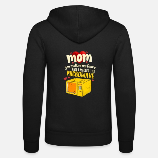 Mother Hoodies & Sweatshirts - Perfect Mother's Day Gift Mom you melted my heart - Unisex Zip Hoodie black