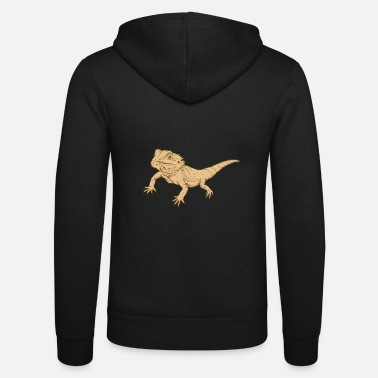 Lizard Bearded Dragon Reptile Lizard Gecko Food Grilling - Unisex Zip Hoodie
