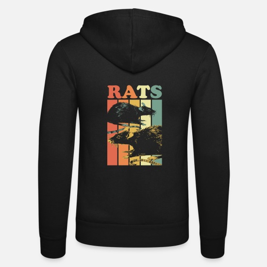 Rat Hoodies & Sweatshirts - rat - Unisex Zip Hoodie black