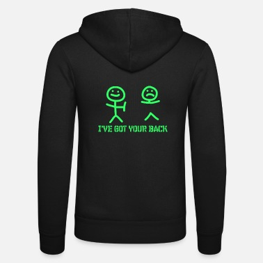 Your Smiley I have your back funny shirt got b - Unisex zip hoodie
