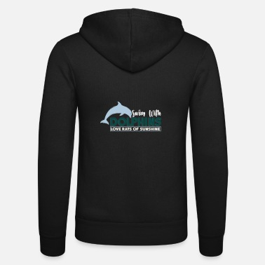 Open Sea dolphins sunshine water swimming - Unisex Zip Hoodie