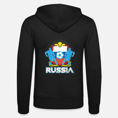 Officialbrands World Soccer Russia / Football Love T-Shirt - Zip hoodie unisex