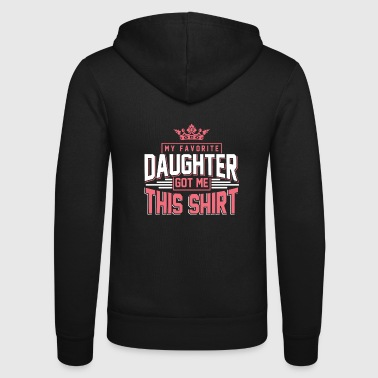 daughter - Unisex Hooded Jacket by Bella + Canvas