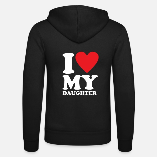Birthday Hoodies & Sweatshirts - daughter - Unisex Zip Hoodie black