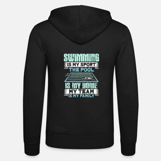 Swim Hoodies & Sweatshirts - swim - Unisex Zip Hoodie black