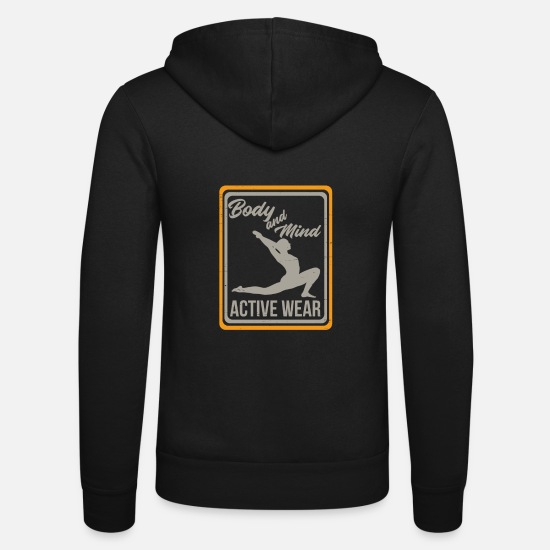 Yogi Hoodies & Sweatshirts - Body mind - Unisex Zip Hoodie black