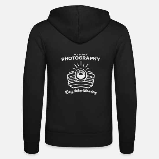 Photographer Hoodies & Sweatshirts - Retro photos - Unisex Zip Hoodie black