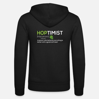Beer Hoptimist - Craft Beer Brewer & Beer Fans - Unisex hupputakki