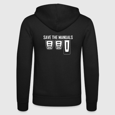 Save The Manuals Manual Gear Shift Tuning - Unisex Hooded Jacket by Bella + Canvas