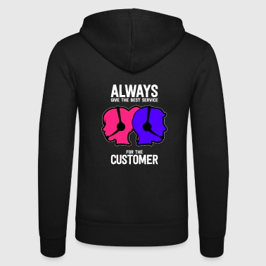 Call center service hotline customer advice - Unisex Hooded Jacket by Bella + Canvas