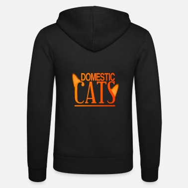 Domestic Cat Domestic cats Domestic cats cats kittens kitty - Unisex Zip Hoodie