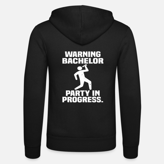 Alcohol Hoodies & Sweatshirts - Bachelor Party (bachelor party) - Unisex Zip Hoodie black