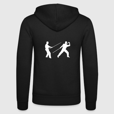 Stick fighting long stick - Unisex Hooded Jacket by Bella + Canvas