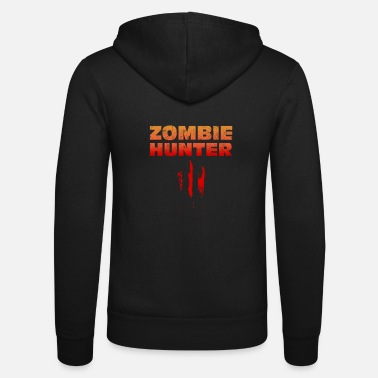 Blood Splatter Halloween zombie blood splatter gift - Unisex Hooded Jacket by Bella + Canvas