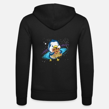 Cadeau de pingouin Zoo Animal Space Pizza - Veste à capuche unisexe