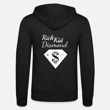 Wealthy Diamond Dollar Sign Rich Child Money Wealthy - Unisex Hooded Jacket by Bella + Canvas