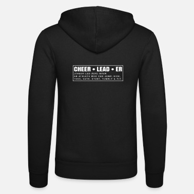 Cheerleading Cheerleader Meaning Cheerleading Shirt Gift - Unisex Hooded Jacket by Bella + Canvas